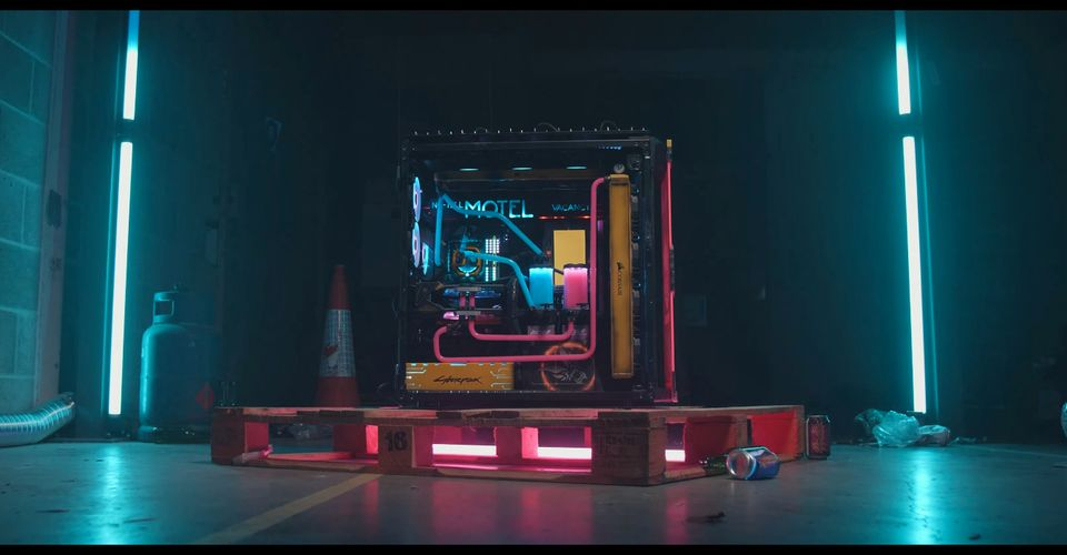 Cyberpunk 2077 Themed PC Is Colorfully Punk