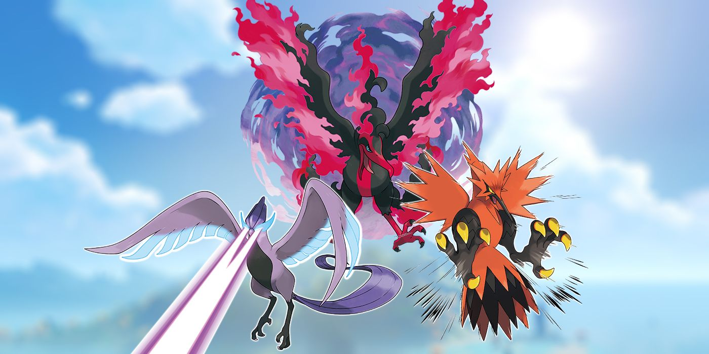 Galarian Articuno, Zapdos, and Moltres Shinies Revealed for Pokemon Sword and Shield