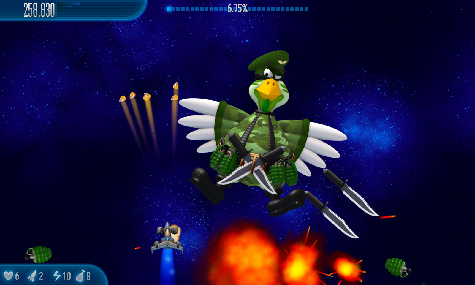 Chicken Invaders 5 Cluck of the Dark Side iOS/APK Version Full Game Free Download
